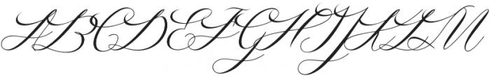 Amfibi Script Regular otf (400) Font UPPERCASE