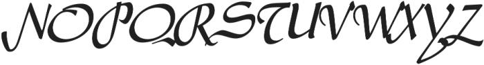 Amilly Script otf (400) Font UPPERCASE
