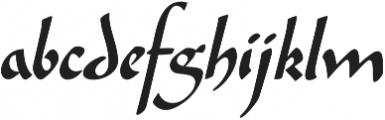 Amilly Script otf (400) Font LOWERCASE