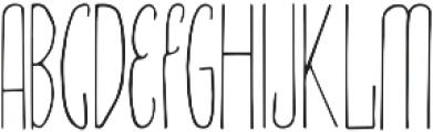 Amirah Regular otf (400) Font UPPERCASE