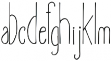Amirah Regular otf (400) Font LOWERCASE