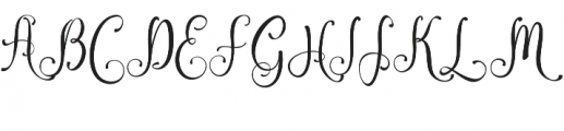 Amirra Script Amirra_Script Clean otf (400) Font UPPERCASE