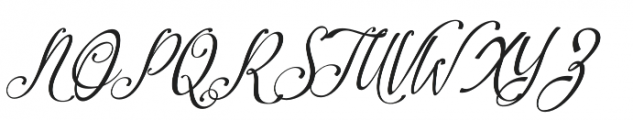 Amirra Script Amirra_Script Slant Rough otf (400) Font UPPERCASE