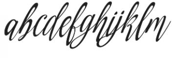 Amirra Script Amirra_Script Slant Rough otf (400) Font LOWERCASE
