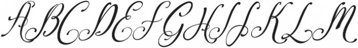Amirra Script Amirra_Script Slant Rough ttf (400) Font UPPERCASE