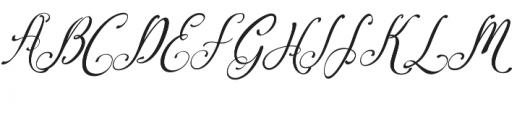 Amirra Script Amirra_Script Slant otf (400) Font UPPERCASE