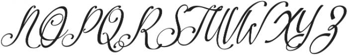 Amirra Script Amirra_Script Slant ttf (400) Font UPPERCASE