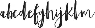 Amist Rough ttf (400) Font LOWERCASE