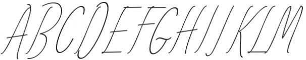 Amlight LIne otf (300) Font UPPERCASE