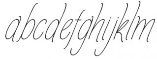 Amlight LIne otf (300) Font LOWERCASE