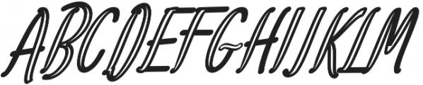 Amlight Out Line otf (300) Font UPPERCASE