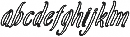 Amlight Out Line otf (300) Font LOWERCASE