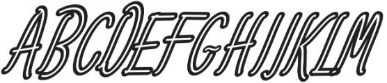 Amlight Semi Out Line otf (300) Font UPPERCASE