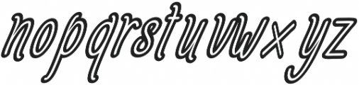Amlight Semi Out Line otf (300) Font LOWERCASE