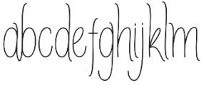AmlightLine otf (300) Font LOWERCASE