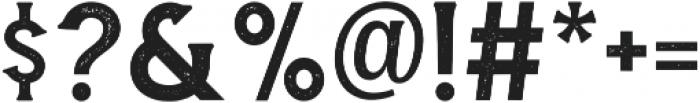 Amnestia Distressed otf (400) Font OTHER CHARS