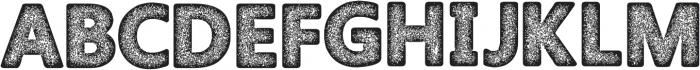 Amoky Halftone Typeface ttf (400) Font UPPERCASE