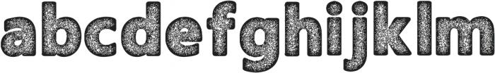 Amoky Halftone Typeface ttf (400) Font LOWERCASE