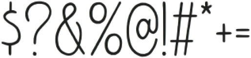 Amoore otf (400) Font OTHER CHARS