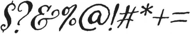 Amoretta Dark Italic otf (400) Font OTHER CHARS
