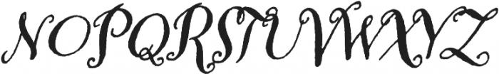 Amoretta Dark Italic otf (400) Font UPPERCASE