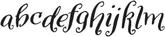 Amoretta Dark Italic otf (400) Font LOWERCASE
