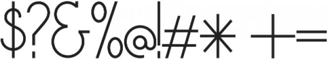 AmoretteLight otf (300) Font OTHER CHARS