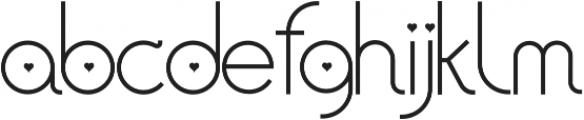 AmoretteLight otf (300) Font LOWERCASE