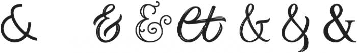 Ampersands Set ttf (400) Font UPPERCASE