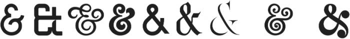Ampersands Set ttf (400) Font LOWERCASE
