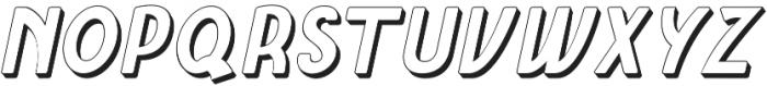Amro Sans Extrude otf (700) Font UPPERCASE