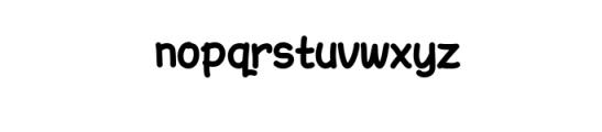 AmarillReg_Bold.ttf Font LOWERCASE