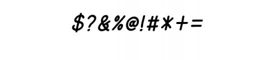 AmarillReg_It.ttf Font OTHER CHARS