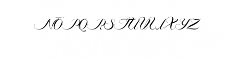 Ambergris Script Font UPPERCASE