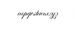 Ambergris Script Font LOWERCASE
