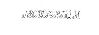 Ameliana Font UPPERCASE
