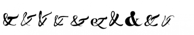 Ampersanders Font OTHER CHARS