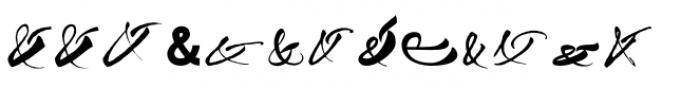 Ampersanders Font LOWERCASE