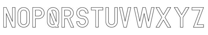 AMORICA SANS Stroke Font UPPERCASE