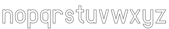 AMORICA SANS Stroke Font LOWERCASE