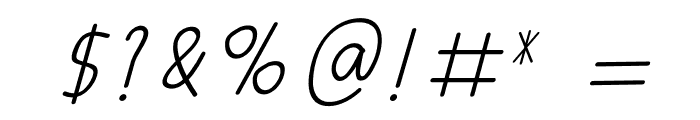 AMORICA SCRIPT Italic Font OTHER CHARS