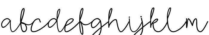 AMORICA SCRIPT Font LOWERCASE