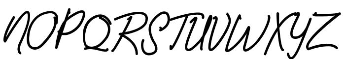 Amanda Signature Font UPPERCASE
