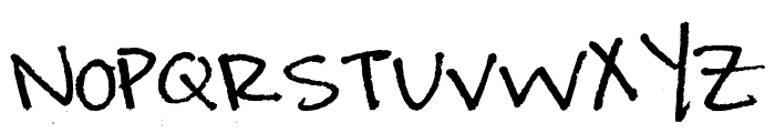 Amanda's Hand Font UPPERCASE