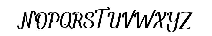 Amandella Script Font UPPERCASE