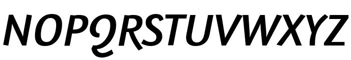 Amaranth Italic Font UPPERCASE
