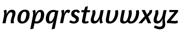 Amaranth Italic Font LOWERCASE