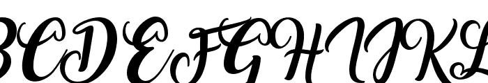 Amarillo Font UPPERCASE