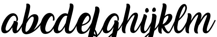 Amarillo Font LOWERCASE