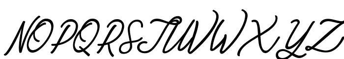 Amarula Personal Use Font UPPERCASE
